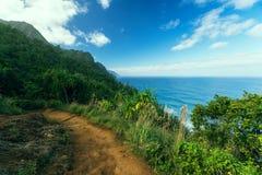 Fuga de Kalalau em Kauai Fotos de Stock
