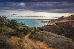 Fuga de Malibu da garganta da cerca Imagem de Stock