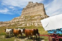 Fuga de Oregon, monumento nacional do blefe de Scotts, Nebraska Fotos de Stock