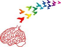 Fuga dei cervelli Immagini Stock