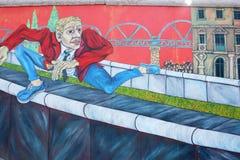Fuga del muro di Berlino Immagine Stock Libera da Diritti