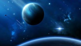 Fuga del pianeta dello spazio Immagine Stock Libera da Diritti