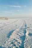 Fuga della spiaggia di Sandy fotografie stock libere da diritti