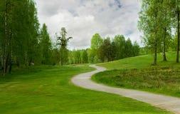 Fuga do campo de golfe foto de stock