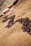 Fuga do feijão de café imagens de stock