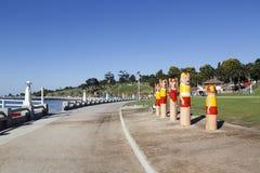 Fuga do poste de amarração do ` s de Geelong Imagem de Stock