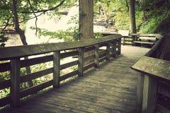Fuga do turista no parque nacional do vale de Cuyahoga Imagens de Stock