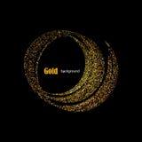 Fuga dourada do Glitter com fundo das estrelas Vetor Imagem de Stock Royalty Free
