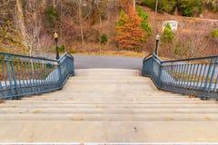 Fuga e escadas do parque de Piedmont ao mandril grande, Atlanta, EUA Fotos de Stock