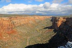 Fuga em Ute Canyon Imagem de Stock Royalty Free