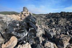 Fuga grande do fluxo da obsidiana fotografia de stock royalty free