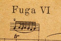 Fuga musikaliska anmärkningar Royaltyfria Foton