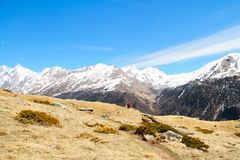 Fuga nos cumes altos Imagem de Stock Royalty Free