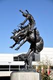 Fuga precipitosa di Calgary, statua del cowboy Immagini Stock Libere da Diritti