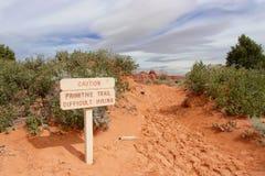 Fuga primitiva no parque nacional dos arcos Fotografia de Stock Royalty Free