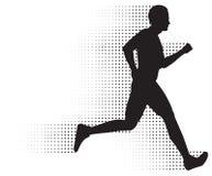 Fuga Running do homem & da reticulação Foto de Stock