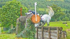 Fuga stupefacente alle prove di cavallo internazionali 2011. Fotografia Stock Libera da Diritti