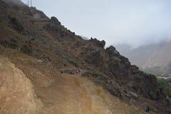 Fuga a toubkal de C4marraquexe em Marrocos Norte de África Imagem de Stock Royalty Free