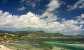 Fuga tropicale - st Maarten Fotografia Stock Libera da Diritti