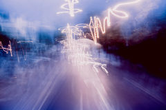 Fugas abstratas da luz fotografia de stock