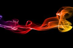 Fugas coloridas do fumo Imagens de Stock