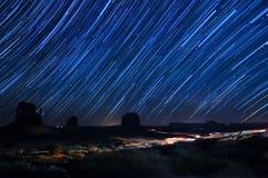 Fugas da estrela do vale do monumento Foto de Stock Royalty Free
