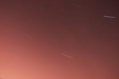 Fugas da estrela noite 30 minutos Imagens de Stock