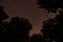 Fugas da estrela noite 30 minutos Imagem de Stock