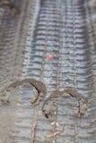 Fugas da ferradura na sujeira Imagem de Stock
