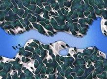 Fugas da floresta feericamente ilustração stock