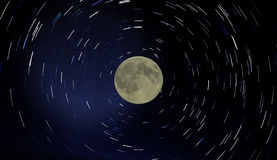Fugas da lua e da estrela fotografia de stock royalty free