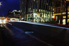 Fugas da luz em Éstocolmo Imagens de Stock Royalty Free