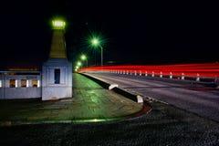Fugas da luz na ponte de Kawagoe Fotografia de Stock