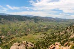 Fugas de enrolamento em um vale de Colorado Fotografia de Stock Royalty Free