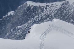 fugas dos esquiadores Fotografia de Stock