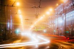 Fugas dos sinais da velocidade na avenida de Lenin em Gomel, Bielorrússia Imagens de Stock Royalty Free