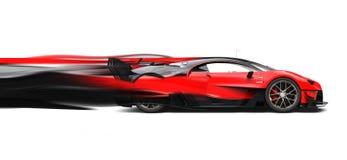 Fugas super vermelhas poderosas da velocidade do carro de corridas ilustração do vetor