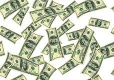 Fugenlose Beschaffenheit von fallenden Dollar als Symbol des Gewinns lizenzfreies stockbild
