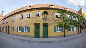 The Fuggerei is the world's oldest social housing complex still in use Royalty Free Stock Photography