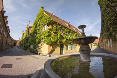 The Fuggerei is the world's oldest social housing complex still in use Stock Photo
