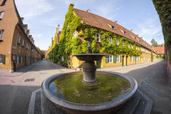The Fuggerei is the world's oldest social housing complex still in use Stock Images