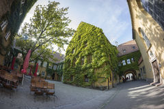 The Fuggerei is the world's oldest social housing complex still in use Royalty Free Stock Photos