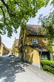The Fuggerei is the worlds oldest social housing complex Stock Photos