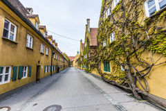 The Fuggerei is the worlds oldest social housing complex Stock Photo