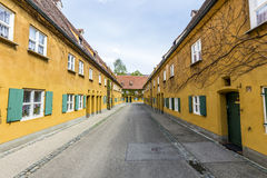 The Fuggerei is the worlds oldest social housing complex Royalty Free Stock Photo