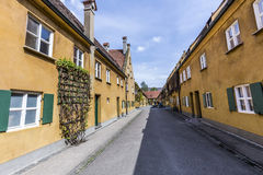 The Fuggerei is the worlds oldest social housing complex Royalty Free Stock Photography