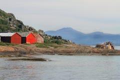 Fugløya e falò di metà dell'estate fotografia stock