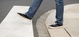 Fußgängerübergang Stockfoto