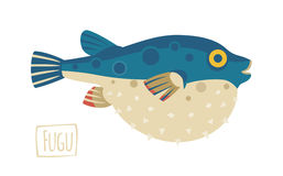 Fugu (pufferfish), cartoon style Stock Photo