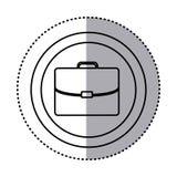 Fugure suitcase icon image Stock Image